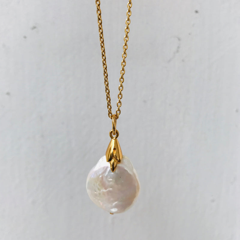 Empire Necklace, Pearl, Gold