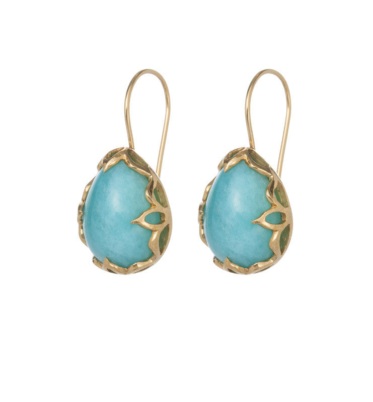Amazonite, Jali, Earring, Gold, Kerry, Rocks, Jewellery