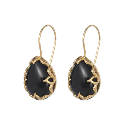 Jali Earring, Black Onyx, Gold, kerry, rocks, jewellery