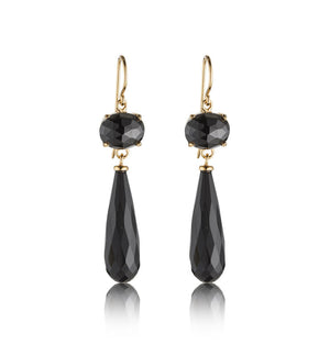 Jewel, Earring, Black, Onyx, Gold, Kerry, Rocks, Jewellery, Jewelry