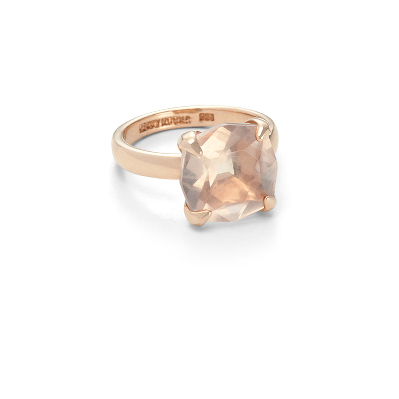 Kara Ring, Rose Quartz, 9kt Rose Gold