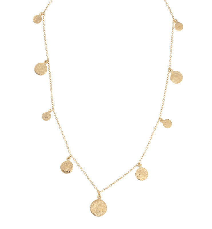 Lena Necklace, Short, Gold