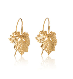 Oak Leaf Earring, Gold