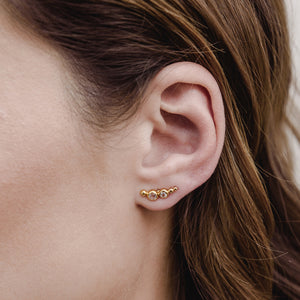 Orion Ear Climber, White Topaz, Gold