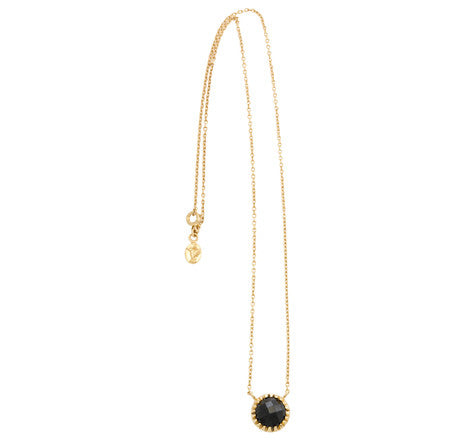 Ottoman Necklace, Black Onyx, Gold
