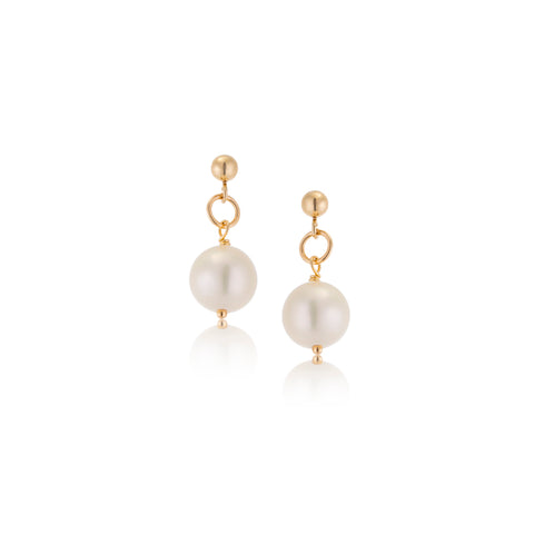 Pearl Stud, 9kt Yellow Gold