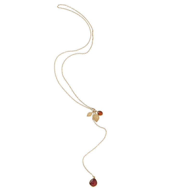Red, Onyx, Gold, Charm, Necklace, Kerry, Rocks, Jewellery