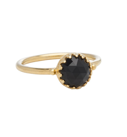 Priya, Ring, Black, Onyx, Gold, Kerry, Rocks, Jewellery, Jewelry