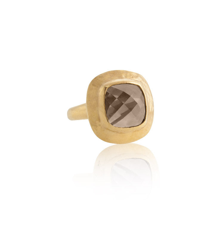 Sienna Ring, Smokey Quartz, Gold