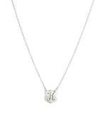 Signet Necklace, K, Silver