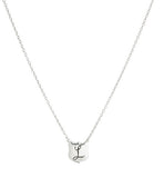 Signet Necklace, L, Silver