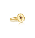 Starburst Ring, Ruby, Gold