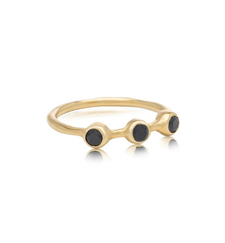 Tri Band, Black Onyx, Gold