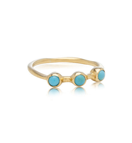 Tri Band, Turquoise Gold