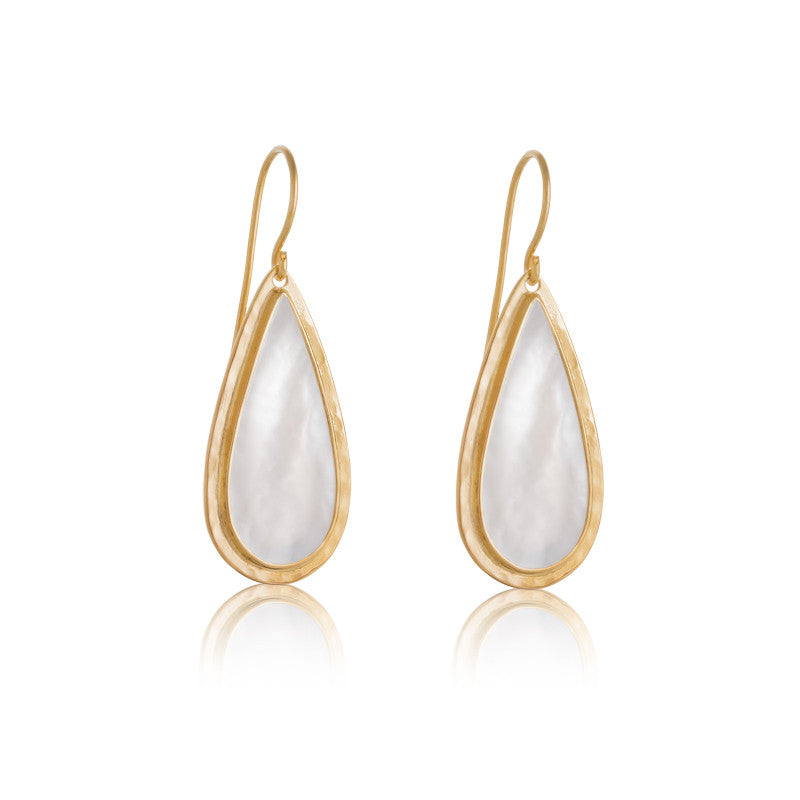 Venice Earring, Mother of Pearl, Gold