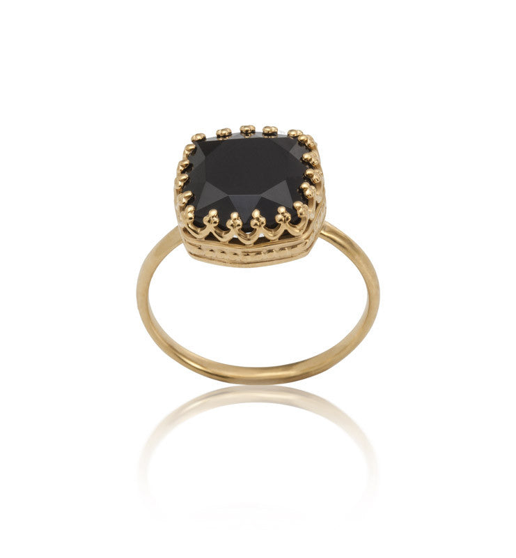 Amelia, Ring, Black, Onyx, Gold, Kerry, Rocks, Jewellery, Jewelry