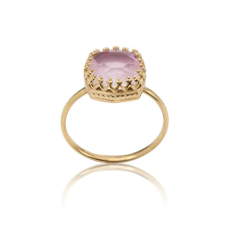 Amelia, Ring, Rose, Quartz, Gold, Kerry, Rocks, Jewellery, Jewelry