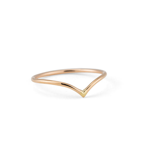 Chevron Band, 9kt Yellow Gold