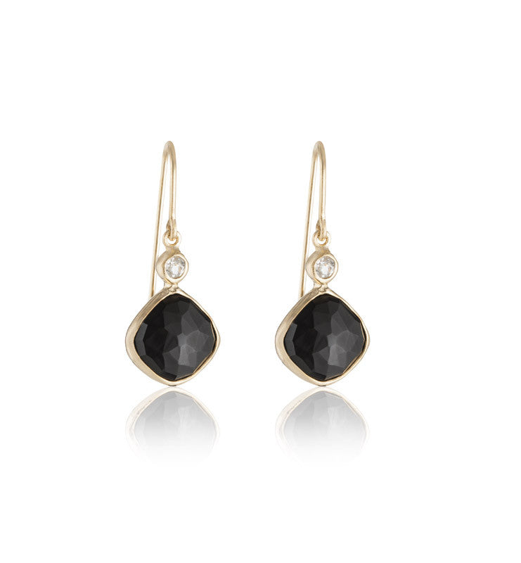 Ariella, Earring, Black, Onyx, Gold, Kerry, Rocks, Jewellery