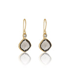 Ariella, Earring, Smokey, Quartz, Gold, Kerry, Rocks, Jewellery