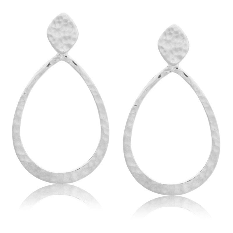 Audrey Earring, Large,Silver