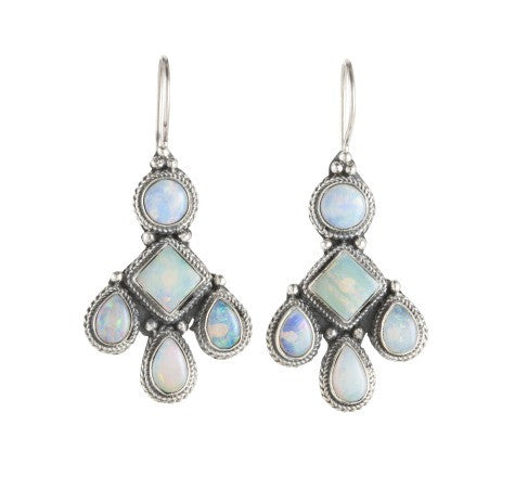 White Opal Chandelier Earring