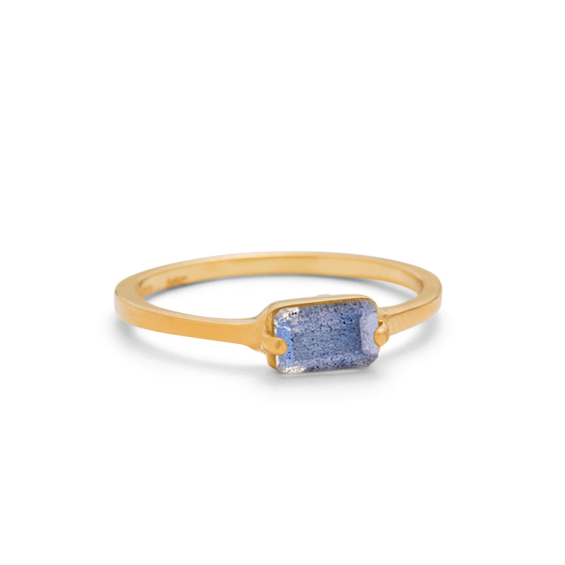 Baguette Band, Labradorite, 9kt Yellow Gold