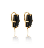 Baguette Ear Cuff, Black Onyx, Gold