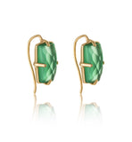 Baguette Ear Cuff, Green Onyx, Gold
