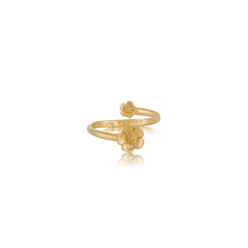 Blossom Duo Ring, Gold