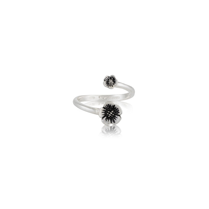 Blossom Duo Ring, Silver