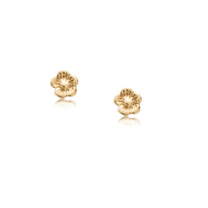 Blossom Studs, 9kt Yellow Gold