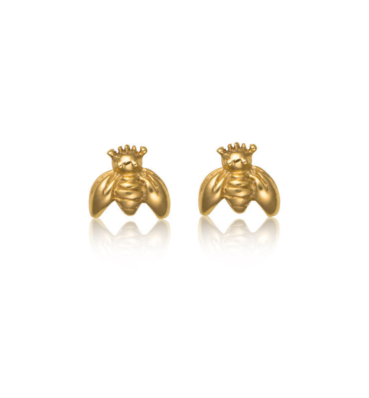 bumble, bee, stud, gold, kerry, rocks, jewellery,