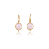 Candy Earring, Rose Quartz, Gold