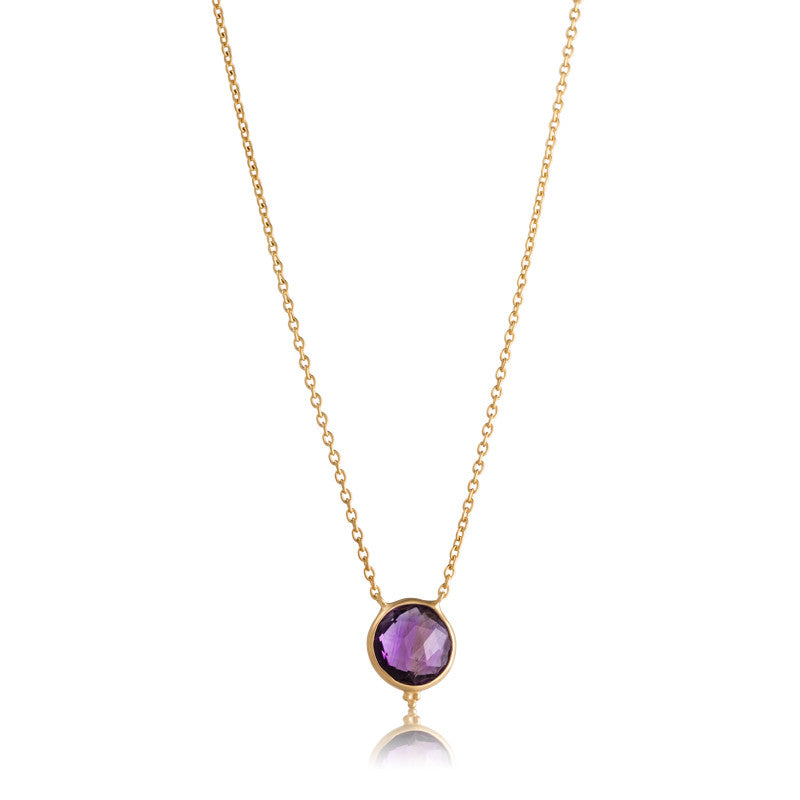 Candy Necklace, Amethyst, Gold