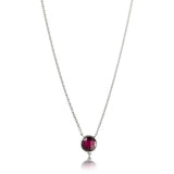 Candy Necklace, Garnet, Silver