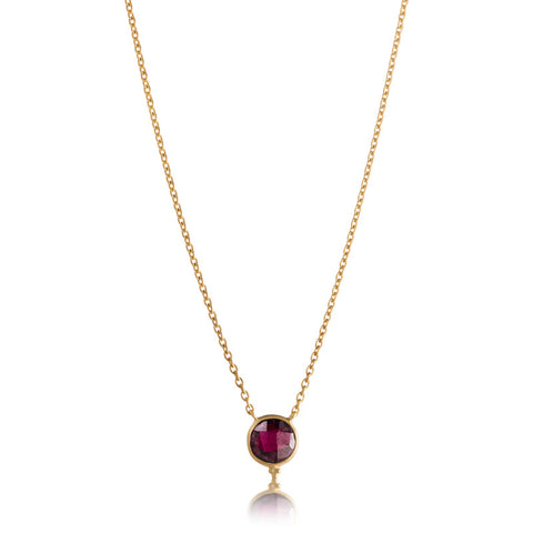 Candy Necklace, Garnet, Gold