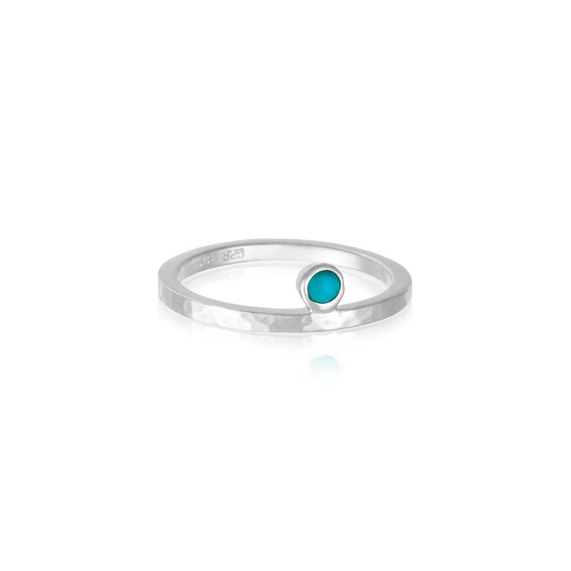 Celeste Ring, Turquoise, Silver
