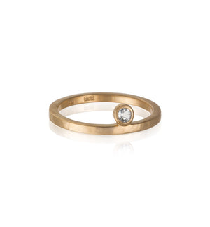 Celeste Ring, White Topaz, Gold