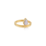 Celeste Ring, White Opal, Gold