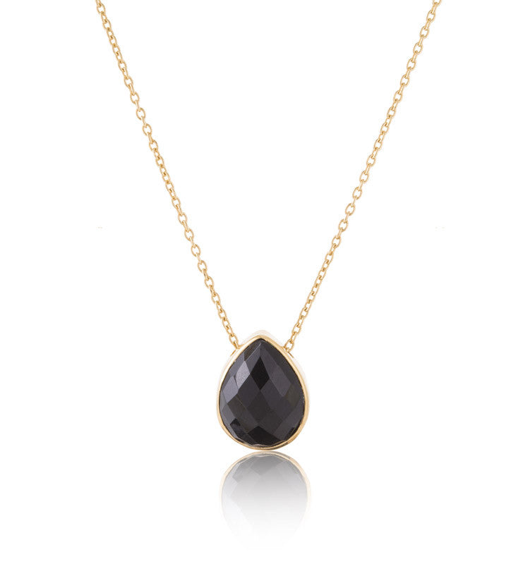 Celine, necklace, black, onyx, gold, kerry ,rocks, jewellery