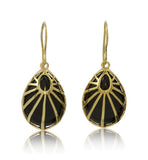 Art, Deco, Inspired,Charlotte Earring, Black Onyx, Gold, Kerry, Rocks, Jewellery