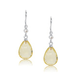 Chloe Earring, Lemon Quartz, Silver