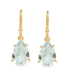 Pear Earring, Blue Topaz, Gold.kerry. rocks. jewellery