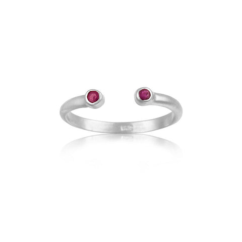 Cosmos Ring, Ruby, Silver