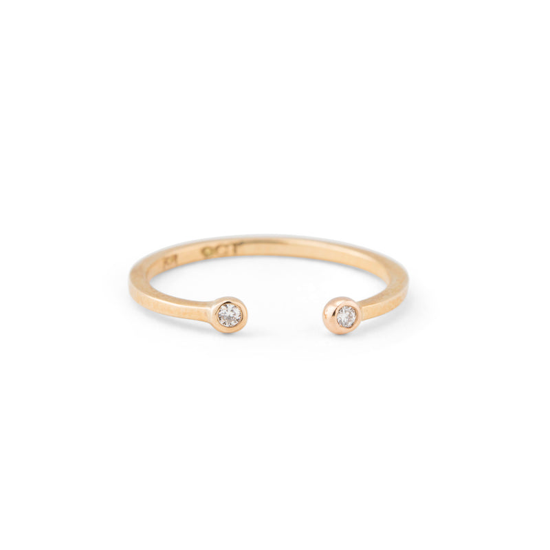 Cosmos Ring, White Diamond, 9kt Yellow Gold