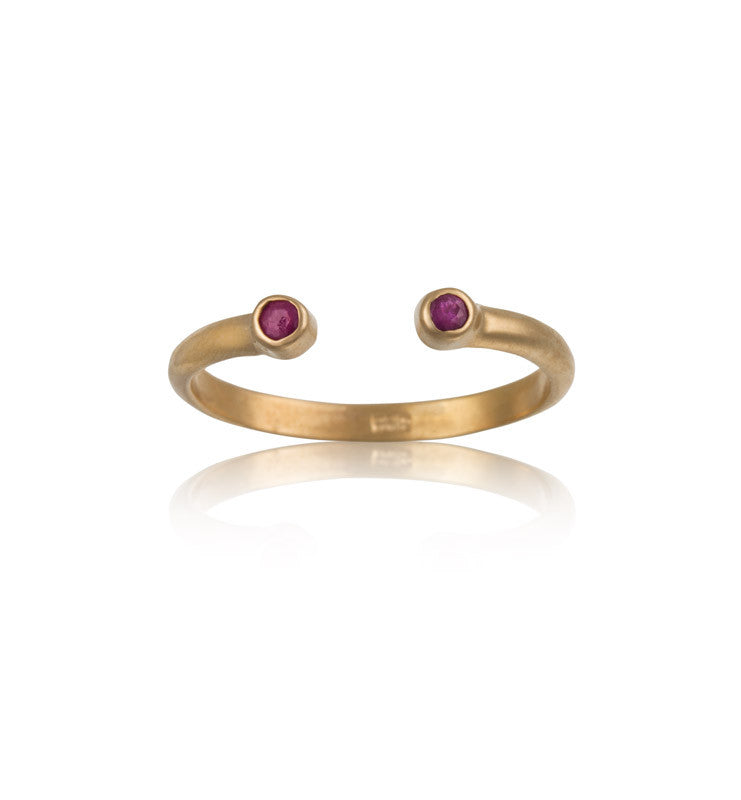 Cosmos Ring, Ruby, Gold