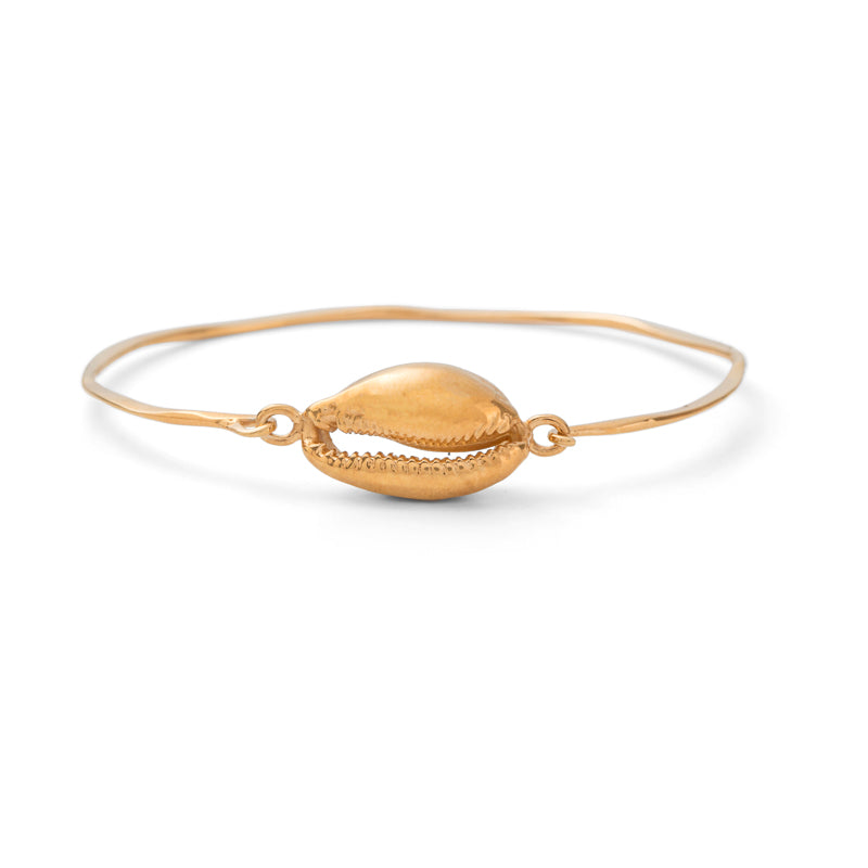 Cowrie Bangle, Gold
