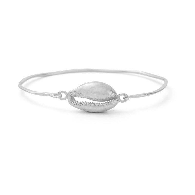 Cowrie Bangle, Silver