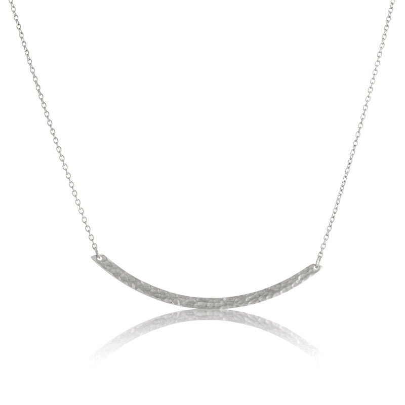 Crescent Necklace, Silver